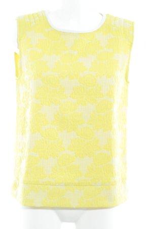 Zara Cárdigan largo amarillo-amarillo pálido estampado floral