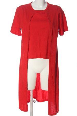 Zara Longshirt rot Casual-Look