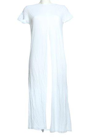 Zara Longshirt weiß Casual-Look