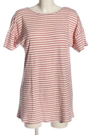 Zara Longshirt rot-wollweiß Allover-Druck Casual-Look