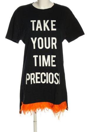 Zara Longshirt Schriftzug gedruckt Casual-Look