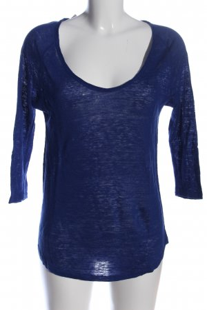 Zara Longshirt blau meliert Casual-Look