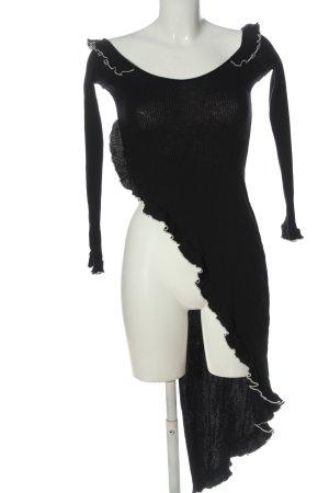 Zara Ribbed Shirt black casual look