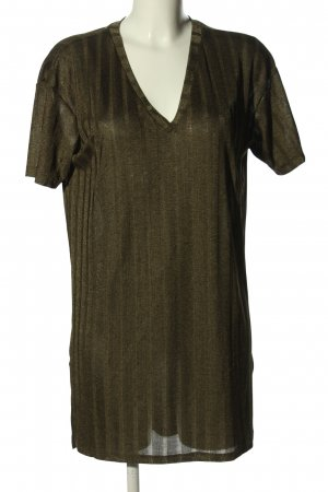 Zara Longshirt khaki Casual-Look
