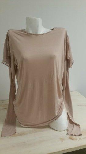 Zara Longshirt Langarm Shirt Gr L Cut Out Schultern