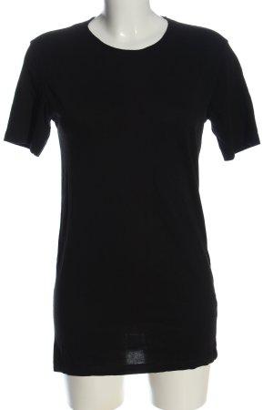 Zara Longshirt schwarz Casual-Look