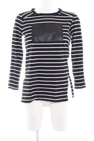 Zara Longshirt schwarz-weiß Streifenmuster klassischer Stil