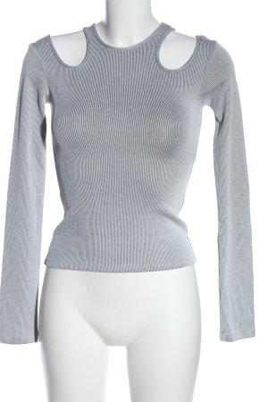 Zara Longsleeve schwarz-weiß meliert Casual-Look