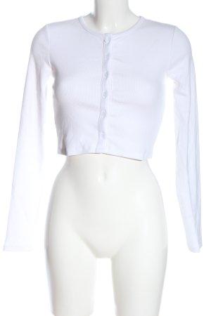 Zara Koszulka z długim rękawem biały W stylu casual