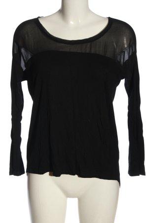 Zara Koszulka z długim rękawem czarny W stylu casual