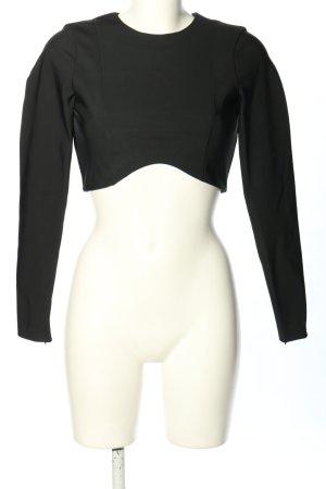 Zara Top à manches longues noir élégant