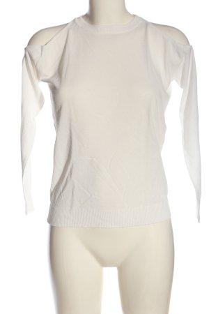 Zara Manica lunga bianco sporco stile casual