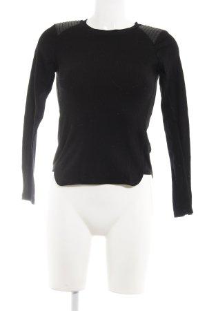 Zara Longsleeve schwarz extravaganter Stil