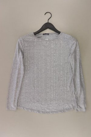 Zara Longsleeve-Shirt Größe M Langarm grau aus Polyester