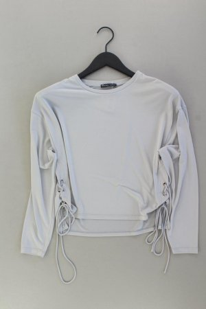 Zara Longsleeve-Shirt Größe S Langarm grau aus Polyester