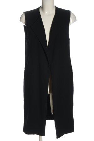 Zara Long Knitted Vest black elegant