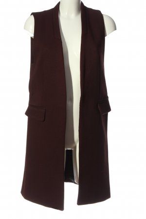 Zara Long Knitted Vest brown business style