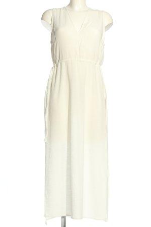 Zara Chiffon Dress cream casual look