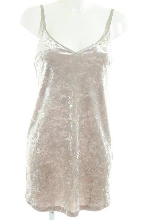 Zara Top lungo beige chiaro effetto velluto