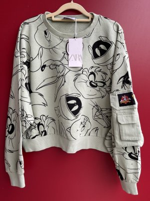 Zara looney tunes L Sweatshirt pullover neu