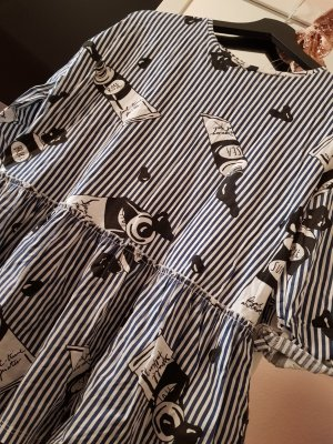 Zara Camisa holgada negro-azul oscuro