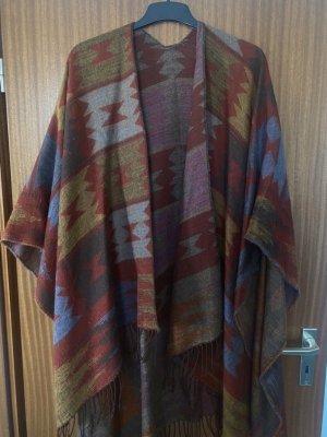 Zara man Kimono Poncho Fransen bohoo onesize