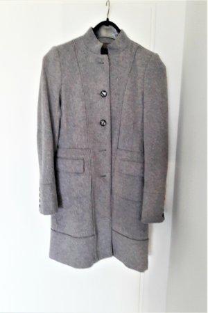 B/W Zara Collection Wollen jas lichtgrijs-grijs Wol