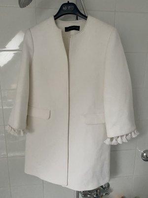 Zara Krótki płaszcz biały