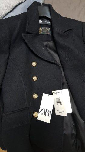 Zara Giacca militare nero-oro Lana
