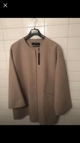 100% Fashion Manteau en laine beige