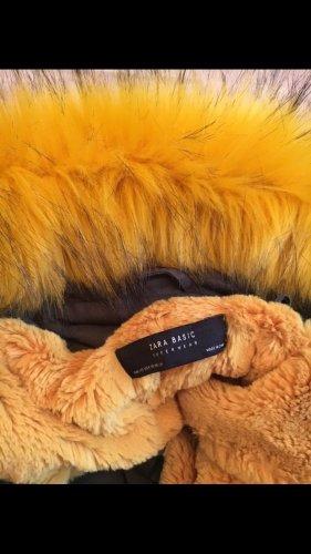 Zara Hooded Coat khaki-yellow