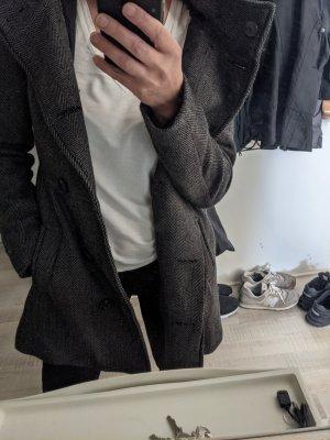 Zara Manteau à capuche noir-gris foncé