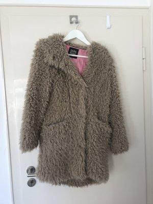 Zara Basic Hooded Coat light brown