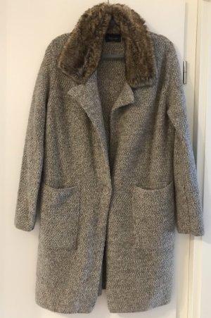 Zara Oversized jas grijs-bruin