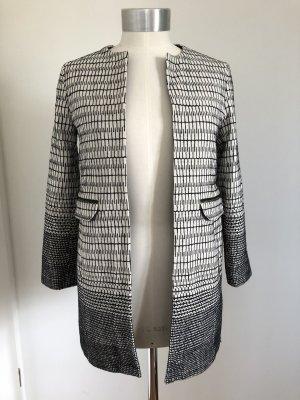 Zara Basic Frock Coat white-black cotton
