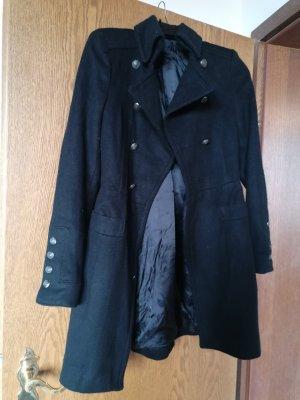 Zara Abrigo de entretiempo negro