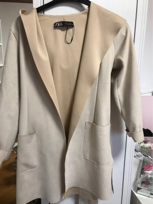 Zara Hooded Coat cream