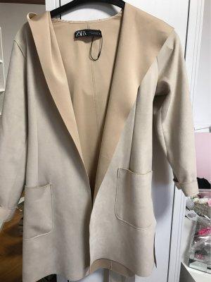 Zara Cappotto con cappuccio crema