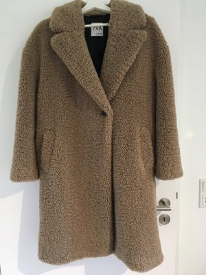 ZARA Mantel aus Lammfellimitat (Größe M)