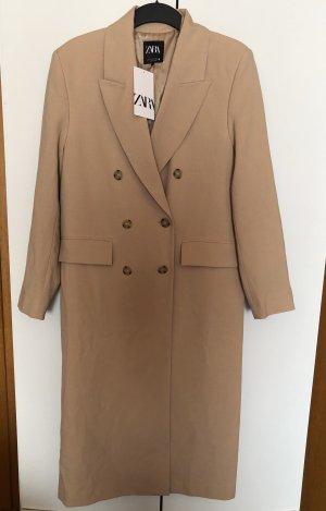 Zara Marynarski płaszcz Wielokolorowy