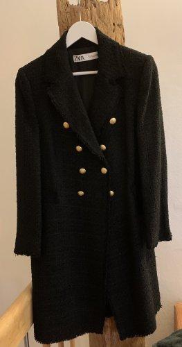 Zara Redingote noir coton