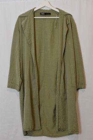 Zara Quilted Coat olive green-khaki