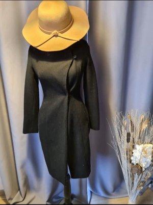 Zara Marynarski płaszcz czarny-antracyt