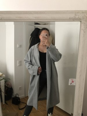 Zara Manteau oversized gris-gris clair