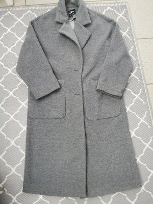 Zara Manteau oversized argenté