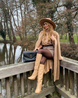 Zara Cappotto in eco pelliccia beige-color cammello