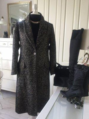 Zara Mantel Fischgreat Blazerstil schwarz beige Gr. L neu mit Etikett
