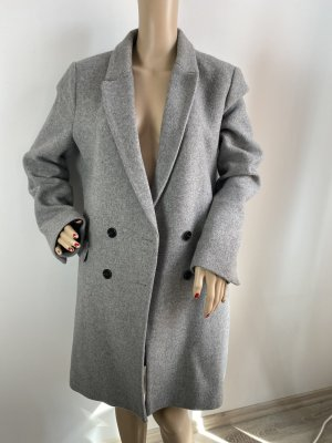 zara mantel grau midi damen gr xl gebraucht winter herbst