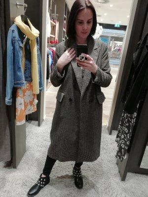 Zara Mantel Hahnentritt Pepita Klassischer Wollmantel