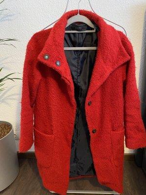 Zara Marynarski płaszcz ceglasty-czerwony